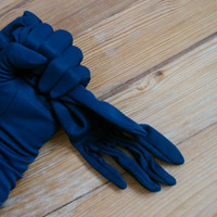 60&#x27;s Gloves Kir Glove Dark Blue by Retransmission on Etsy