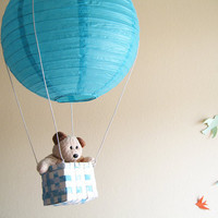 1 Hot Air Balloon Mobile hot air balloon Blue by SimplyChicLily