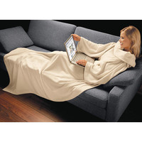 Sleeve Blanket, cream - As cosy as your favourite blanket. As comfy as a poncho. - Pro-Idee Concept Store - new ideas from around the world