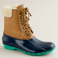 Sperry Top-Sider® short Shearwater boots - weather boots - Women's shoes - J.Crew