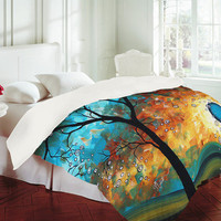 Madart Inc. Aqua Burn Duvet Cover - Luxe Duvet Cover /