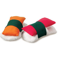 SUSHI SLIPPERS | Fleece Slippers, Sashimi | UncommonGoods