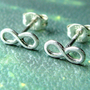 Infinity Post Earrings Infinity Earrings in by phoebestreasure