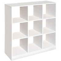 Walmart: Badger Basket - 9 Cubby Storage Unit, White