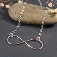 Sterling silver infinity necklace, Infinity jewelry line of handmade designer jewelry