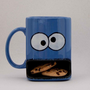 Cookie monster type dunk mug by apiecebydenise on Etsy