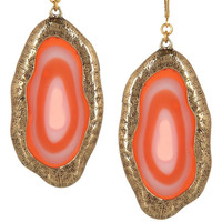 Kenneth Jay Lane|22-karat gold-plated agate earrings|NET-A-PORTER.COM