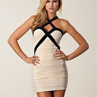 Cross Contrast Dress, Oneness