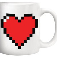 Amazon.com: Kikkerland Pixel Heart Morphing Mug: Kitchen & Dining