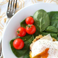 something delicious / Quinoa Cakes with Poached Eggs by annieseats: A little lighter fare. #Quinoa #Quinoa_Cakes #annieseats