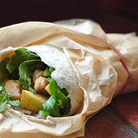 something delicious / On-the-Go Recipe: Apple-Arugula Salad Wraps | Apartment Therapy The Kitchn