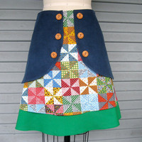 Pretty In Patchwork triple layer skirt