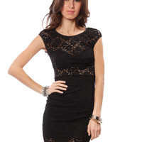 Papaya Clothing Online :: BLACK LACE DRESS