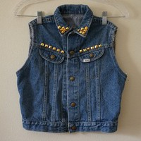 Studded Crop Jean Jacket from Seek Vintage