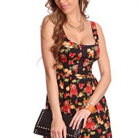 Red Floral Mix Prints Smock Back Dress @ Amiclubwear sexy dresses,sexy dress,prom dress,summer dress,spring dress,prom gowns,teens dresses,sexy party wear,women's cocktail dresses,ball dresses,sun dresses,trendy dresses,sweater dresses,teen clothing,eveni
