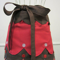 Cute as a button Reversible Half Apron by LibbyandLee on Etsy
