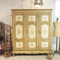 Painted Cottage Chic Shabby French Armoire AM11