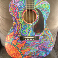 Psychedelic Vintage Harmony Guitar