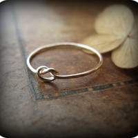 Knot ring - gold filled ring