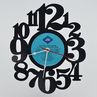Unique Vinyl Record Wall Clock (artist is D.J. Jazzy Jeff & The Fresh Prince)