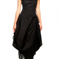 Lip Service Black Step In Time Long Dress
