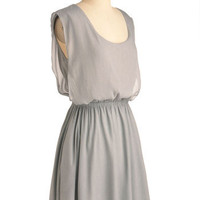 Simple Solution Dress in Silver | Mod Retro Vintage Dresses | ModCloth.com