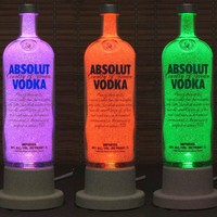 Absolut Vodka Color Changing LED Remote Controlled Eco LED~Bodacious B