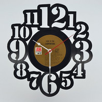 Unique Wall Clock vinyl record album (artist is The Carpenters)