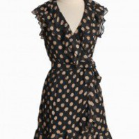 Belleza Dusk Polka Dot Wrap Dress