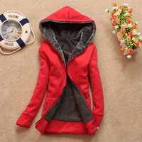 Stylish Women&#x27;s Warm Long Sleeve Casual Hoodie Outwear