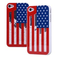 Fashion Sliding the Stars and the Stripes Hard Cover For Iphone 4/4s