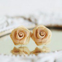 Golden Rose Post Earrings | Modern Vintage New Arrivals
