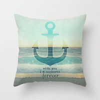 YOU ARE MY ANCHOR *** by Monika Strigel *** PILLOW in three SIZES for VALENTINES DAY **** BRANDNEW