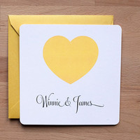 Wedding invitation - Simple Heart