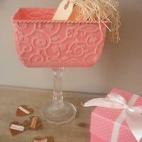 Pink Wedding candy buffet container  perfect by MamaLisasCottage