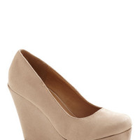 Chart Topper Wedge in Oatmeal | Mod Retro Vintage Heels | ModCloth.com