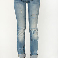 Blank NYC Galaxy Distressed Straight Leg Jeans