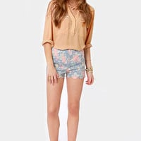 Skinny Zipping Beige Top
