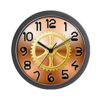 Copper Wall Clock on CafePress.com