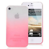 iPhone 4 Gradient Back Cover Case - Pink