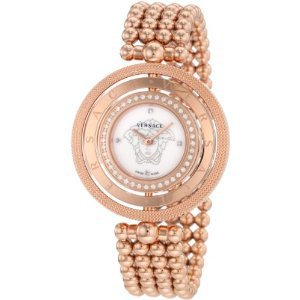 # Versace Women's 80Q81SD497 S080 Eon Three Rings Rose Gold Plated 40 Diamond Mother-Of-Pearl Watch