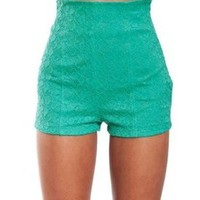 High-Waisted Lace Shorts            Tanny&#x27;s Couture LLC