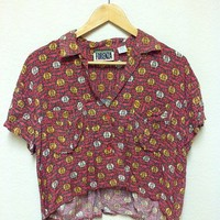 Vintage hi/lo button up [S/M] from Live Harmlessly