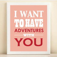 Valentine&#x27;s Day Adventures print poster by AmandaCatherineDes