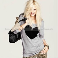 Women Trendy Cute Heart Love Round Neck Top Casual T-shirt New XS-XXL WTS002