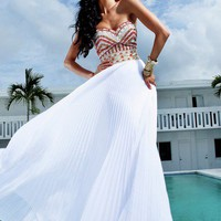 A-line Chiffon Sweetheart Floor Length Graduation Dress