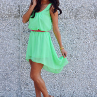 Can&#x27;t Wait To Be Seen Dress: Neon Green | Hope&#x27;s