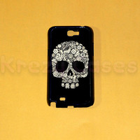 Samsung Galaxy Note 2 case,Floral Skull Samsung Galaxy Note 2 case For your Samsung Galaxy Note 2