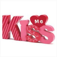 KISS ME VALENTINE DECOR: Home & Garden