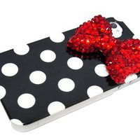 Polka dot bow case for iphone